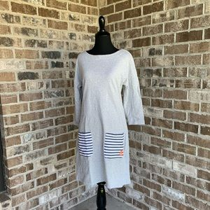 Tommy Hilfiger Gray Nautical Dress Size S